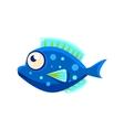 Dark Blue Spotted Fantastic Aquarium Tropical Fish vector image vector image