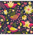 Decorative floral background with flowers and vector image vector image