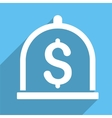Dollar Deposit Long Shadow Square Icon vector image