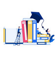 education and knowledge online training courses vector image