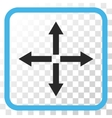 Expand Arrows Icon In a Frame vector image vector image
