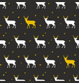 festive seamless background with deer vector image vector image