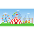 flat of classic amusement park vector image vector image