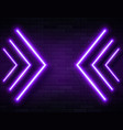 futuristic sci fi modern neon violet glowing vector image vector image