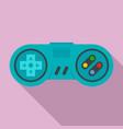 gamepad icon flat style vector image
