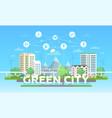 green city - modern flat design style vector image vector image