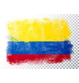 grunge and distressed flag colombia vector image vector image