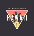 hawaii honolulu t-shirt and apparel design with vector image