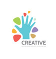 human hand and abstract shapes - business vector image vector image