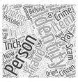 identity theft scams Word Cloud Concept vector image vector image