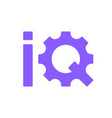 initial letter iq logo lowercase colorful design vector image