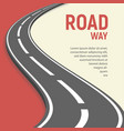 isolated of roadway flat vector image vector image