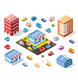 isometric colorful 3d shop vector image
