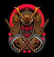 japanese samurai warrior with katana vector image vector image