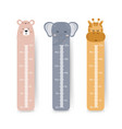 kids height chart cute wall meter with boho vector image vector image