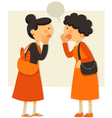ladies talking vector image