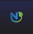 letter n leaf logo icon design vector image vector image