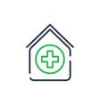 line art icon nursing home flat style symbol vector image vector image