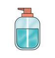 liquid soap bottle dispenser in colored crayon vector image