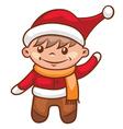 little santa boy vector image vector image