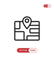 location on map icon vector image