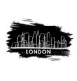 london skyline silhouette hand drawn sketch vector image vector image