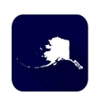 map us state alaska vector image