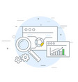 online marketing and analytics icon - data vector image vector image