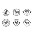 organic fresh meat premium quality retro cattle vector image