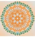 Ornate mandala design yoga karma yantra banner vector image vector image