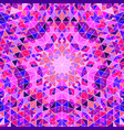 polygonal abstract geometrical colorful round vector image vector image