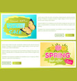 promo offer spring sale advertisement daisy flower vector image