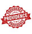 providence round ribbon seal vector image vector image