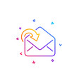 receive mail download line icon incoming messages vector image vector image
