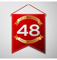 red pennant with inscription forty eight years