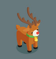 rudolf christmas deer santa claus helper isometric vector image