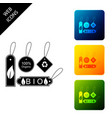 set banners labels tags logos for eco green vector image