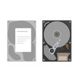 set flat hard disk drive isolated vector image vector image