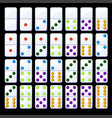 set isolated colored classic dominoes vector image