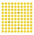 Set of emoticons icon vector image