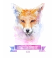 set of watercolor Cute fox vector image vector image