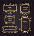 set vintage golden frames with scrolls vector image vector image