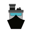 ship frontview symbol vector image vector image