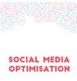 social media icons social media optimisation vector image