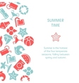 Summer time with icons vector image vector image