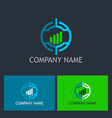 target business finance company logo vector image vector image
