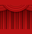 template for your design red theatre curtain vector image