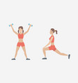 the young girl engaged in fitness vector image