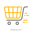 Thin line icons shopping cart vector image