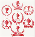 trophy and awards laurel wreath collection 2 vector image vector image
